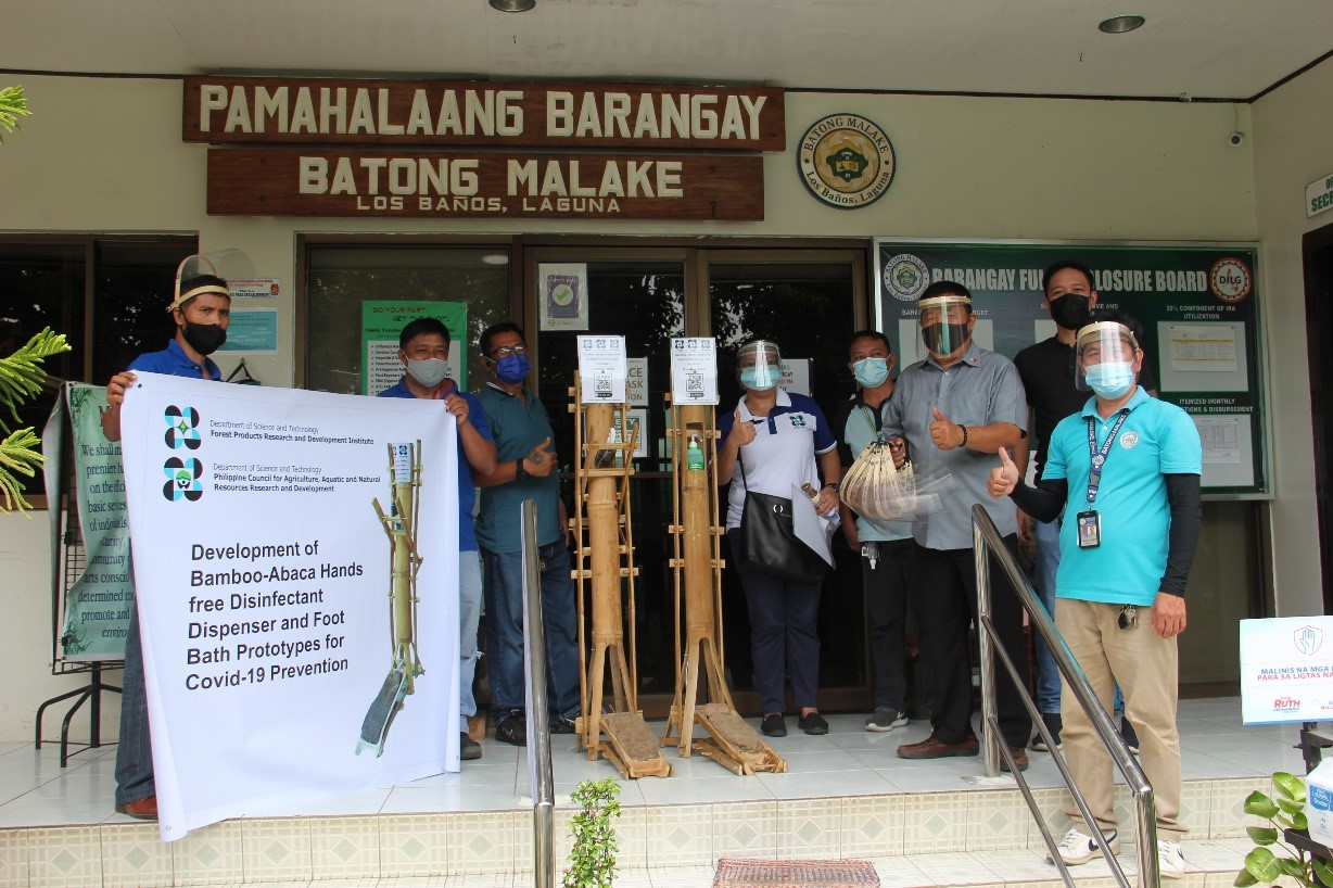 DOST distributes bamboo-abaca alcohol dispenser and foot bath to fight COVID-19 image