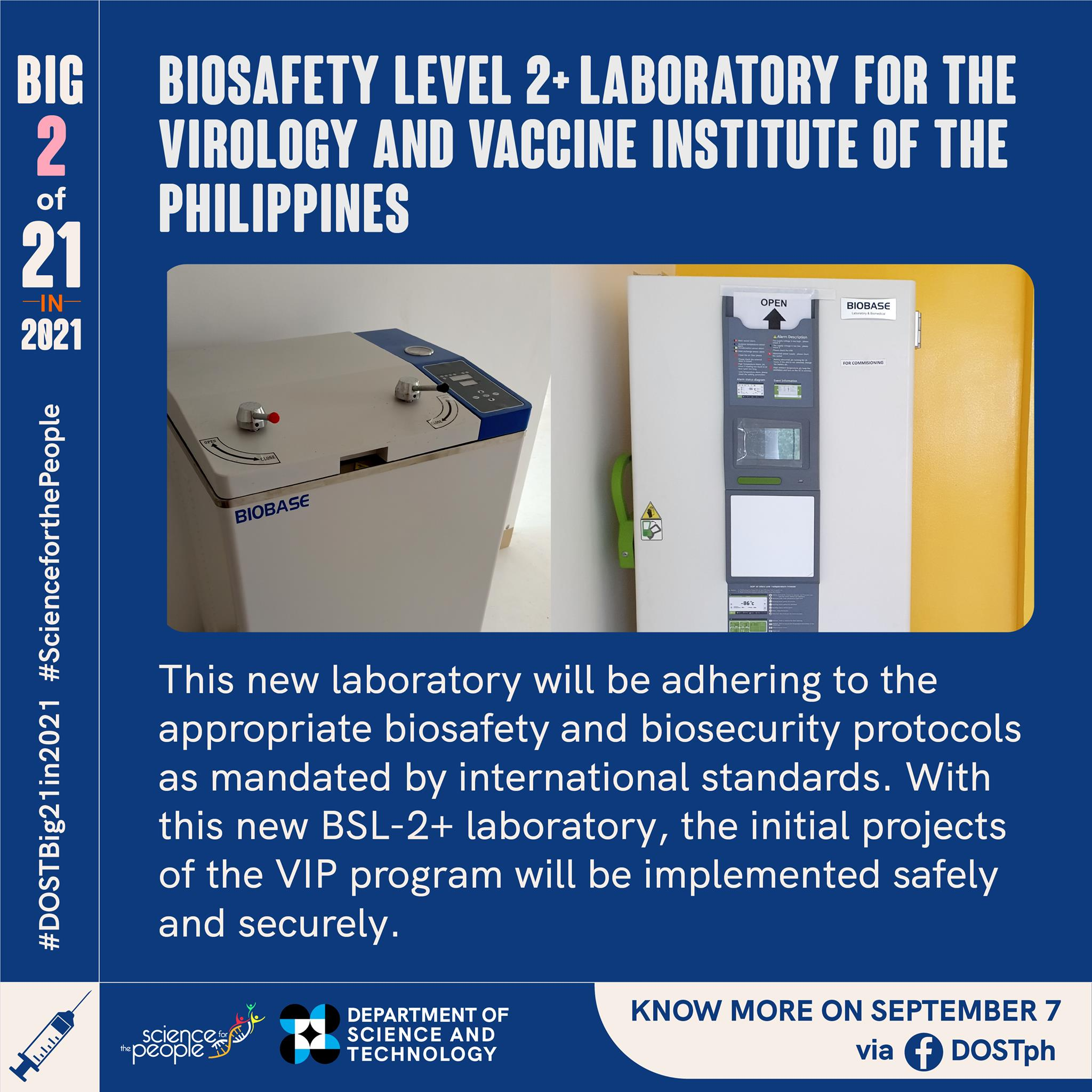 BSL-2+ Laboratory to be launched in preparation for the Virology and Vaccine Institute of the Philippines image