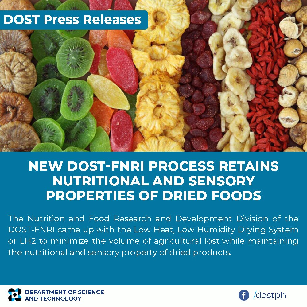 New DOST-FNRI process retains nutritional and sensory properties of dried foods image