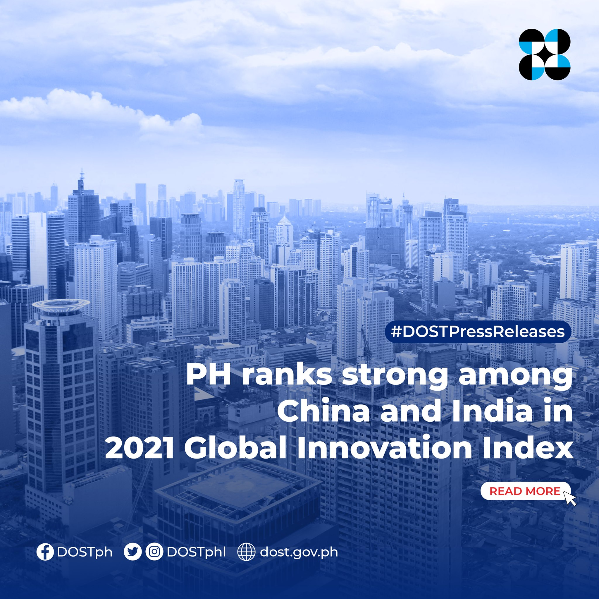 PH ranks strong among China and India in 2021 Global Innovation Index image