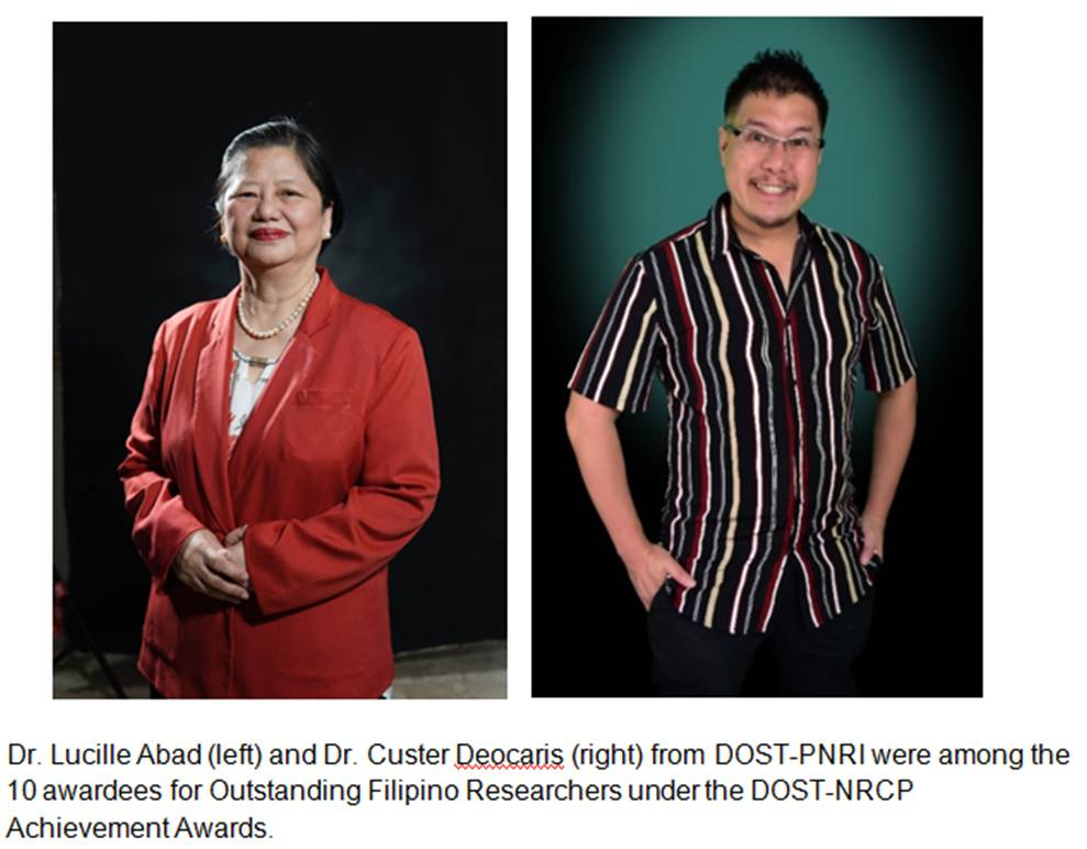 2 Filipino scientists fromDOST-PNRI bag awards during 2020 NRCP scientific confab image