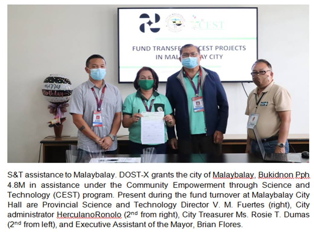 Malaybalay City gets Php 4.8M S&T assistance from DOST X image